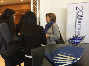 Alfa's stand at the IESE Career Fomun