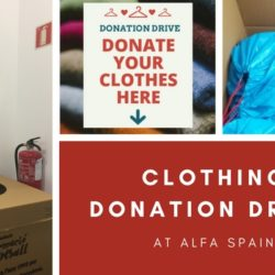 Clothing Donation Drive at Alfa Spain